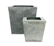 Large galvanised planter